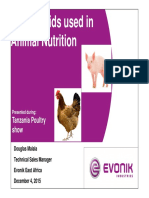 Amino Acids Used in Animal Nutrition