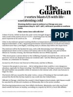 Polar vortex blasts US with life-threatening cold | US news | The Guardian