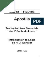 (Gensler) Introdução a Lógica - Capítulos 1 e 2