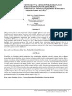 Pengaruh Struktur Aktiva Ukuran Perusaha
