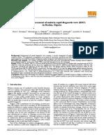 Comparative assessment of malaria rapid diagnostic tests (RDT) in Ibadan, Nigeria