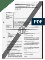NBR 01183 - 1988 - Armazenamento de Resíduos Sólidos Perigosos