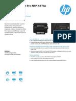 HP LaserJet MFP Color 176