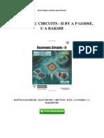 Electronic Circuits II by a p Godse u a Bakshi