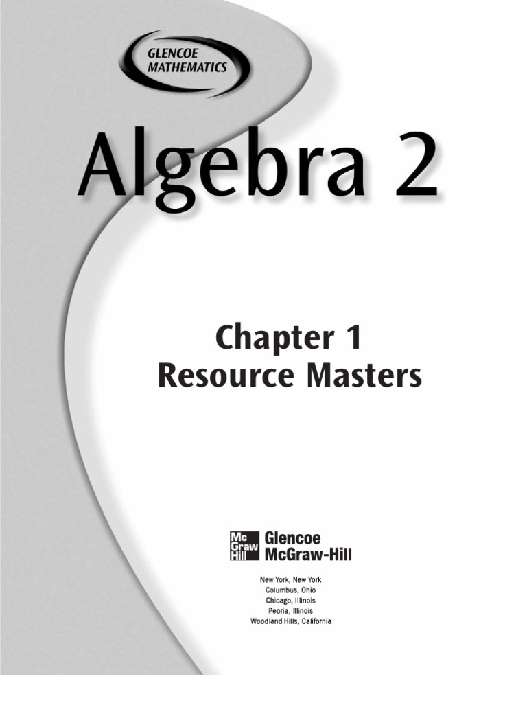 worksheet Glencoe Algebra 1 Worksheets homework helpers algebra 1 glencoe chapter practice test prentice hall
