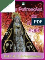 Parla Programa Fiestas Patronales Sept 2018