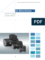 WEG Alternadores Sincronicos Linea g Plus y Ag10 50057921 Catalogo Espanol