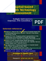Hospital-based Health Technology Assessment - Prof. Sudigdo Sastroasmoro