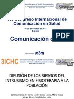 Congreso Nacional Del Intrusismo y La Salud, Difusion_jimenez_3ICHC_2017