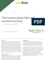 Internet DealBook third quarter global M&A andinvestment activity report