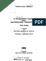 Emmanuel Terray - O Marxismo Diante Das Sociedades Primitivas