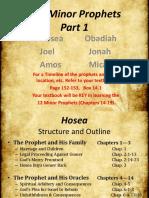 12. Minor Prophets Hosea-Micah