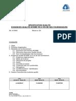 Exigences réglementaires RSQ 2003