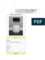 Properties of Potash Alum