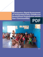 Participatory Rapid Assessment of Integrated Early Childhood Development Programmes among San Communities in Namibia
