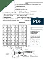 Ukulele Work Sheet