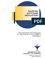 Nursing outcomes indicators