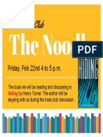 February JPL Teen Book Club