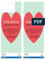 February JPL Family Crafternoon