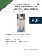 Practica 5 Determinacion de Azucares Reducidos