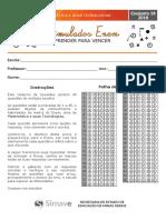 Simulado Enem - Prova de Matemática