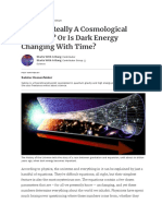 Is There Really a Cosmological Constant_ or is Dark Energy Changing With Time