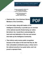 Director of National Intelligence Dan Coats Opening Statement