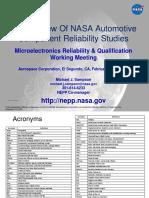 NASA Automotive Component Reliability Studies