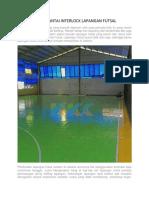 Harga Lantai Interlock Lapangan Futsal, WA +62 821-8620-5040, BISA COD TANPA SURVEY