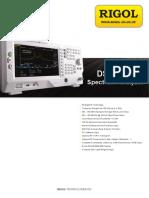Analizador de espectros Rigol DSA700