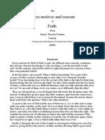 The Three Motives and Reasons of Faith.-english-Gustav Theodor Fechner