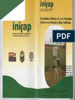 Necesidades Hidricas de Los Cultivos de Bcn Inifap