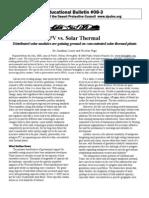 Educational Bulletin 08-3  PV vs. Solar Thermal By Jonathan Lesser and Nicolas Puga