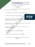 Examen Matemáticas II Grado Procesos Químicos Junio 2011