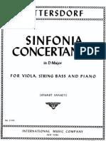 Sinfonia Concertante Per c.basso, Viola e Orchestra