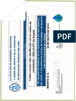 Certificado Ponente San Jose