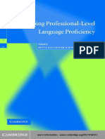 Developing Professional-Level Language Proficiency