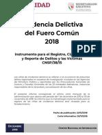 delitos 2018 en mexico