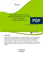 Documento de Apoyo Para El Análisis de Norma Iso _fdis 31.000 «Risk Management- Principles and Guidelines «
