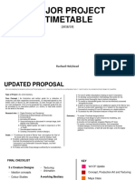 Major Project | Timetable and Proposal [Version 2]