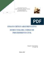 Ensayo Critico Argumentativo Estructura Del Código de Procedimiento Civil
