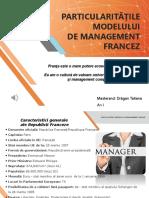 Particularitățile Modelului de Management Din Franta -