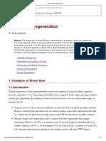 Diesel Filter Regeneration