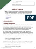 Deactivation of Diesel Catalyst