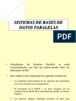 Tecnicas y Consultas de base de datos paralelas