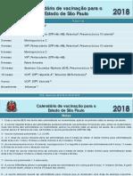 calendário vacina 2018