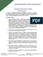Normas Regimentais de Bolsa de Estudo Por Mérito - 2º Sem 2018