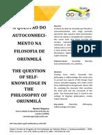 A Questão Do Autoconhecimento Na Filosofia de Orunmilá_Noguera
