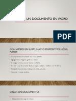 Crear Un Documento en Word