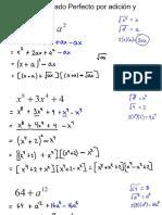 Factorizar trinomios cuadrados perfectos por adición y sustracción